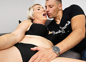 Naughty mature Gasha having fun with her toy boy