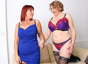 Beau Diamonds and Camilla finally meet and they really get allong So much that very quickly the clothes come off pussies get wet and strapons get shoved in