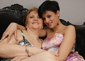 Horny young teen pleases hot grandma