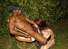 This horny mature slut really loves the black cock