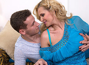 Hot MILF fucking and sucking her younger lover