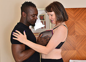 Horny British housewife cant get enough of her boyfriends big black cock